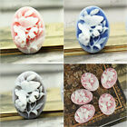 Resin Cabochons Flatback Oval Butterfly flowers wholesale hot vintage style diy