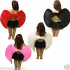 FEATHER ANGEL WINGS FANCY DRESS ACCESSORIES CHRISTMAS HEN NIGHT BLACK WHITE RED
