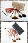 Everglamour Professional 12 Pcs Wooden Cosmetic Makeup Brushes Set w/Case Gift