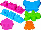 NEW Childrens Silicone Cake Jelly Bake Mould Cupcake Castle Train Party Cooking