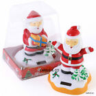 SOLAR POWERED NODDING SANTA ORNAMENT NOVELTY DESK TOY CAR DASHBOARD