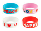 Silly Brand XL Rubber Bracelet Assorted -- Choose Design