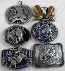 BELT BUCKLE-1 X METAL-COWBOY/RODEO/HORSE WRANGLER/COUNTRY/WESTERN/BULL RIDER-NEW