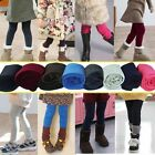 New Girls Winter Warm Thick Leggings Fleece Lined Kids Trousers Pants SZ 2-7 Y