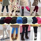 Girl Winter Warm Thick Leggings Fleece Lined Kids Trousers Pants SZ 2 3 4 5 6 7