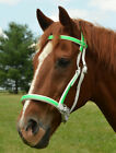 *HORSE SIZE* Any 2 Color 2 n 1 BITLESS BRIDLE & SIDEPULL HEADSTALL Beta Biothane