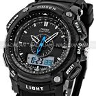OHSEN Black Waterproof Digital LCD Date Mens Military Sport Rubber Quartz Watch