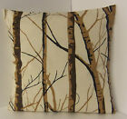 SINGLE STYLISH CUSHION COVERS CREAM DARK BROWN BLACK WILLOW LIGHT BROWN TREE