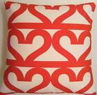 SINGLE TRENDY CUSHION COVERS MADE FROM IKEA RED HEARTS FABRIC