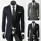 Men's Long Styles Casual Slim Long Sleeve Blazer Suit Business Coat Jacket AH936