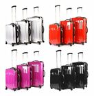 """20"""" 24"""" 28"""" Hard Shell ABS Wheeled Suitcase Holdall Travel Hand Luggage Bag NEW"""