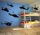 HUGE SIZE HELICOPTER WALL STCIKERS / kids room wall stickers / nursery wall S16