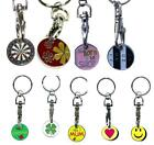 1 Doz Trolley Coin Keyrings - Choose from 33 different Designs - New - Fast Ship
