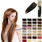 """18"""" Heat hair synthetic heat resistant 6 piece full head clip in hair extensions"""