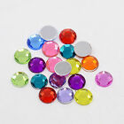 50 Acrylic Rhinestone Cabochons - Mixed Colour - 8mm or 12mm  - UK Seller