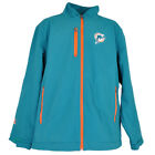 NFL Miami Dolphins Football Track Jacket Fleece Winter Sweater Zipper Mens Adult