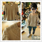 Boutique Vintage Cable Knit Cotton Sweater W/ Faux Leather Elbow Patches NWT