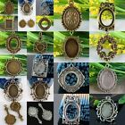 Tibetan Silver Bronze Photo Picture Frame Cabochon Metal Pendant Charms Findings