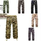 Men's Military Cargo Army Camouflage Camo Combat Overalls Trousers Long Pants