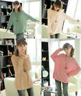 New Women's Casual Loose Batwing Round Neck Knitted Pullover Jumper Long Sweater