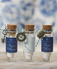 DIY Wedding Guest Favor Gift Mini Clear Glass Bottles / Jars with Cork Stoppers