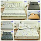 100%Cotton Queen King Size Fitted Sheets Set Or 2 Bed Pillowcases Linen Set New