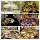 3D Tiger Leopard Cubs Queen Size Bed Quilt/Doona/Duvet Cover Set New 100% Cotton