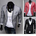 Men's 3 Colors Business Formal Blazer Slim Casual Suit Jacket Free Shipping AXA7