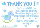 1ST 2ND 3RD 4TH PERSONALISED BIRTHDAY PARTY THANK YOU / THANKYOU CARDS X 10