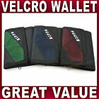 Mens Boys Trifold Sports WALLET Velcro closure Canvas Red Green Navy NEW
