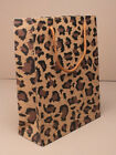 STUNNING PAPER GIFT BAGS - LEOPARD OR TIGER PRINT - SMALL MEDIUM LARGE PARTY BAG