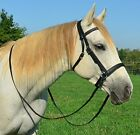 *HORSE SIZE* 2 n 1 Cross Under BITLESS BRIDLE & SIDEPULL & REINS Beta Biothane