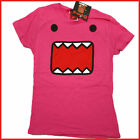 Domo Kun Girls T Shirt WomanTee Domo Pink Face