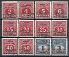 Yugoslavia 1918 MI Due 1-13 without 5 INVERTED Ovpts  MLH  VF