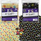 Multi Colour Paw Print Dog Cat Soft Pet Fleece Blanket 70 x 70cm