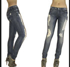 $225 Seven 7 For All Mankind Roxanne Skinny Jeans Liberty Adara Distressed 24 25