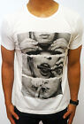 NEW MENS WHITE T-SHIRT JOINT DRUGS EURO FIT FASHION CASUAL S - 2XL BASIC GYM