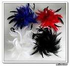 Women Lady Fashion Layered Feather Style Brooch Pin Hair Clip Headdress new