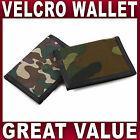 Boys Camouflage Trifold Canvas WALLET Velcro closure sports ID window Mens NEW