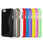 S Shape Line Wave TPU Gel Hard Skin Cover Case For Apple iPhone 5 / iPhone 5S