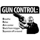 "Southern American 2nd Amendment Gun Rights  "" GUN CONTROL......BRASS "" T SHIRT"