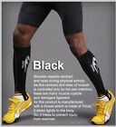 2 Professional Quality Mens Black Calf Compression Sleeves Shin Support Recovery