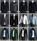 Various Styles Men's One Buttons Business Formal Blazer Suit Jacket Free Ship
