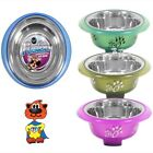 Fusion Plastic Cat Kitten Pet Bowl With Bonded Stainless Steel Dish Small  WP480