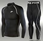 Mens Skin Tight Motorcycle Motor Racing Baselayer Rashie Compression Suit XS-4XL