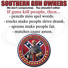 "Dixie Rebel  "" SOUTHERN GUN OWNERS "" 50/50 Gildan/Jerzees T SHIRT"