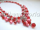 "variations color 12 item 18"" mix Freshwater pearl & mix crystal necklace pendant"
