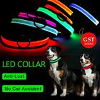 LED Pet Collar Pets Dog Cat Walk Safety Flashing Light Night glow in the dark