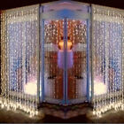 600 LED Christmas party Led Curtain decoration Lights String 6MX3M