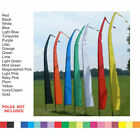 BALI FLAGS - Set 2 x 3 Meter COLOUR WEDDING BEACH GARDEN PARTY - 3M  NO POLE